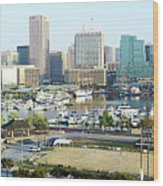 Baltimore's Inner Harbor Wood Print