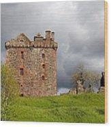 Balvaird Castle Ruins Scotland Wood Print