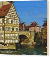 Bamberg Townhall - Germany H A Wood Print