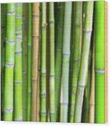 Bamboo Background Wood Print by Carlos Caetano