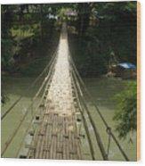 Bamboo Bridge Wood Print