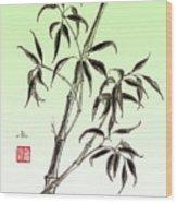 Bamboo Drawing  Wood Print