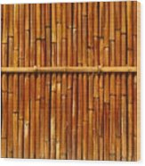 Bamboo Fence Wood Print by Yali Shi