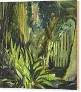 Bamboo Garden I Wood Print