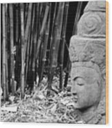 Bamboo Landscape  Statue Asian  Wood Print