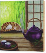 Bamboo Morning Tea Wood Print