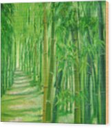 Bamboo Paths Wood Print