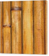 Bamboo Poles Wood Print