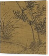 Bamboos And Orchids In The Wind Wood Print