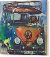 Bamf-vw Microbus Wood Print