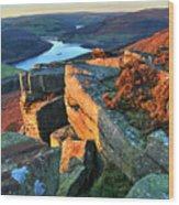 Bamford Edge Wood Print
