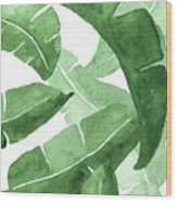 Banana Leaves  3 Wood Print