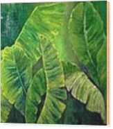 Banana Leaves Wood Print