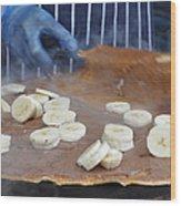 Banana Nutella Crepe Wood Print