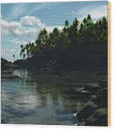 Banana River Wood Print