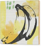 Bananas- Art By Linda Woods Wood Print