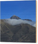Band Of Cloud On Mount Cotacachi Wood Print