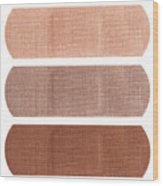 Bandages In Different Skin Colors Wood Print