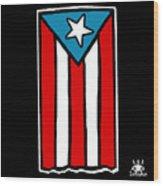 Bandera De Puerto Rico Wood Print