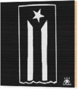 Bandera Puerto Rico En Resistencia Wood Print