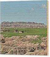 Badlands Panorama Wood Print