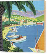 Bandol, French Riviera, Boats On Port Wood Print