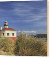 Bandon Coquille River Lighthouse Wood Print