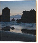 Bandon Oregon Sea Stacks Wood Print
