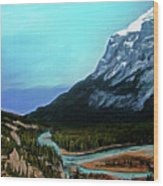 Banff Alberta Rocky Mountain View Wood Print