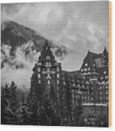 Banff Fairmont Springs Hotel Wood Print