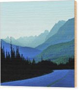 Banff Jasper Blue Wood Print