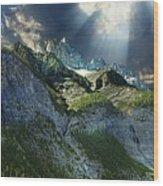 Mount Cory, Banff Wood Print