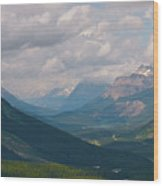 Banff National Park - View Through The Valley Wood Print