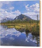 Banff Reflection Wood Print
