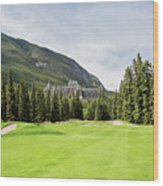 Banff Springs Golf And The Castle Wood Print