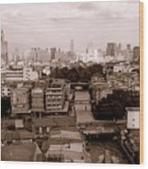 Bangkok City Wood Print