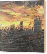 Bangkok City Sunset Glow Wood Print