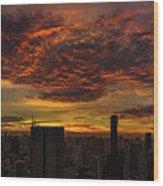 Bangkok Sunrise Wood Print