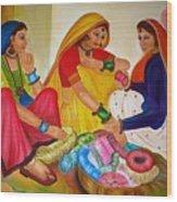 Bangle Seller Wood Print