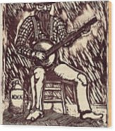Banjo Hero Wood Print by Mathew Luebbert