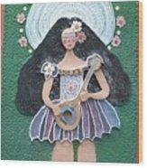 Banjo Lady Wood Print