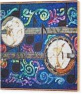 Banjos - Bordered Wood Print