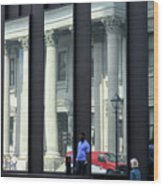 Bank Of Montreal Reflection Wood Print