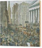 Bank Panic, 1884 Wood Print