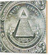 Banknote Detail Wood Print