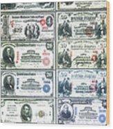Banknotes Wood Print