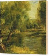 Banks Of The River Wood Print
