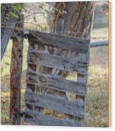 Bannack Gate At Sunrise Wood Print