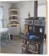 Bannack Ghost Town  Kitchen And Stove - Montana Territory Wood Print