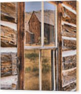 Bannack Reflection In The Past Wood Print